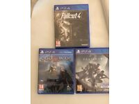 PS4 SEALED games God of War - Fallout 4 - Destiny 2