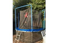 Trampoline (8ft) with all safety accessories.