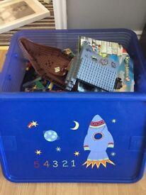 Lego in a fun storage box