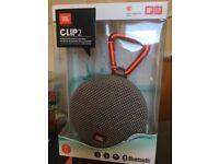 JBL Clip 2 Waterproof Ultra Portable Wireless Bluetooth Speaker - Grey