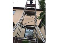 Massive young man alloy scaffolding tower 8.2m w/h