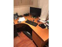 Large office corner desk