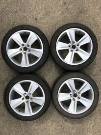 """Seat Leon 17"""" Alloy Wheels with Tyres (x4)"""