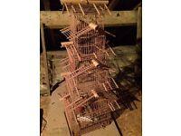 Ornamental Cane Bird Cage