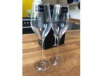 Brand new Dartington Crystal prosecco glasses x2 RRP £25