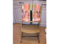 Obaby Megan Wooden High Chair with baby seat insert VGC !