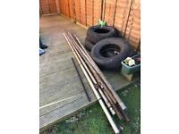 Free items for diy/home project. Metal and tyres. Collection of ALL items only please.