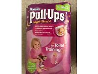 Girls / pink Huggies night time pull ups