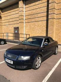 AUDI A4 CABRIOLET 2.4 SPORT 91000 MILES FULL LEATHER MANUAL SERVICE HISTORY FIRST DRIVE WILL BUY