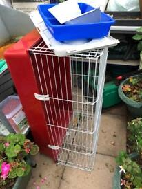 Indoor rabbit cage and carrier