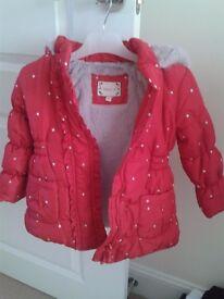 Girls Spotty Winter Coat (2-3 years)