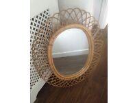 Large decorative bamboo mirror