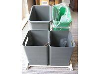 Pull-out under-sink sorter bins (Franke)
