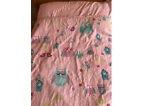 Owl cot bed duvet and pillow case