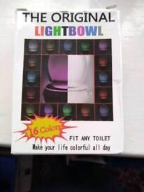 Led motion detecting toilet night light.