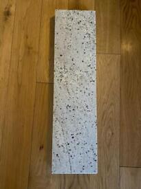 White Granite Shelf