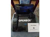 Openbox V5s Satellite receiver (boxes) complete with remote, power supply and booklet £15