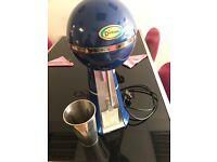 Dinkum milkshake mixer spindle machine with stainless steel beaker.