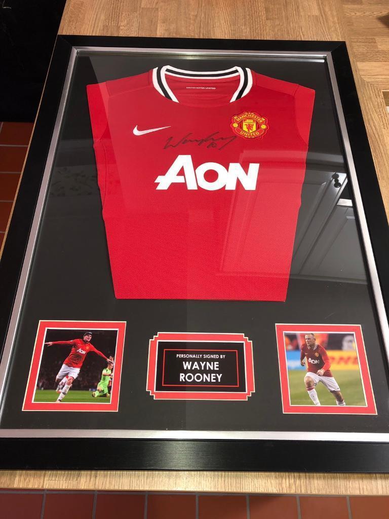 f47239cd7c0 Framed Wayne Rooney Signed Manchester United Shirt - 2011/2012 ...