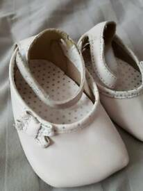 Clarke's baby shoes 0-3 months white