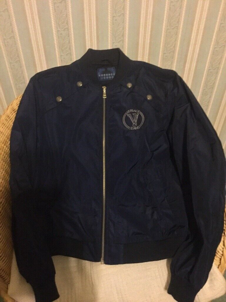 5dd0cff0e GENUINE VERSACE JEANS MENS BOMBER JACKET - NAVY BLUE - BRAND NEW CONDITION!  | in Heathrow, London | Gumtree