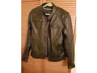 Motorcycle male leather jacket size M