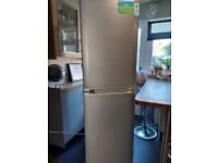 6ft tall silver beko frost free fridge freezer+good working order+DELIVERY