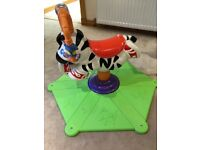Fisher price bounce and spin zebra vgc