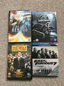 DVD and Blu Ray Bundle - Star Trek, Wall Street, Jurassic, F&F