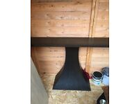 Dark solid wood hall / console table