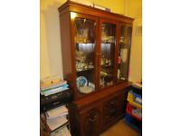 Dining table &chairs set with Display cabinet.