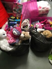 Big bundle of dolls+accessories,build a bears+Clothes,games and various other toys.