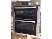 Brand new BOSCH HBN13B251B Electric Built-under Double Oven - Brushed Steel