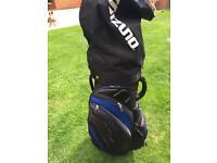Mizuno vanquish large trolley cart golf bag with rain cover.£30