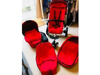 Quinny Buzz Pram and Pushchair Red