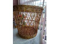 Laundry or log basket open weave