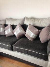Corner Sofa & Chair Footstool