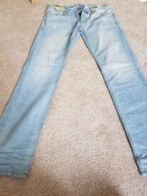 "Brand new jack jones 34"" 34l light blue tim/ slim fit jeans £35 originally"