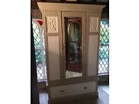 Antique Double Mirror Door Wardrobe Painted in Annie Sloan