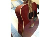 Westfield Acoustic guitar and gig bag