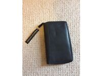 Linea mens Travel Wallet - Black Leather