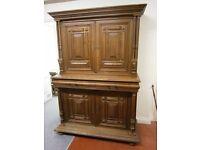 Beautiful oak french bureau bookcase, in great condition