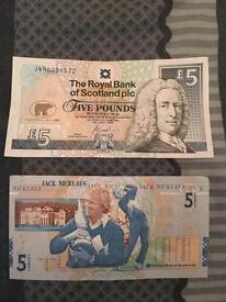 Jack Nicklaus £5 notes
