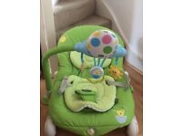 Chicco Balloon Bouncy Chairs - Green and Purple