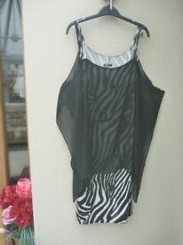 Black/white party dress