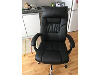 Fox Hunter recliner office chair with footrest