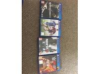 4 PS4 games. WWE2k17/Mafia3/Mortal Kombat X/FIFA 15