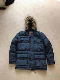 Mens Navy Parka Coat Jacket BRAND NEW