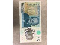 New five pounds note AK 33 -150-