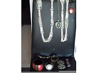 A selection of Costume Jewelry . A bargain when one piece cost over £20.